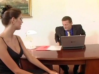 Nerdy secretary sex in...
