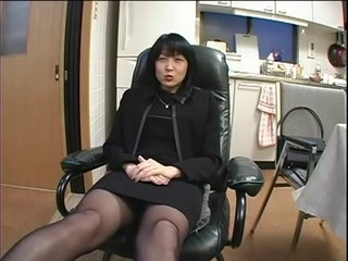 Asian Brunette MILF Stockings
