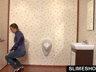 Womens toilet piss-7
