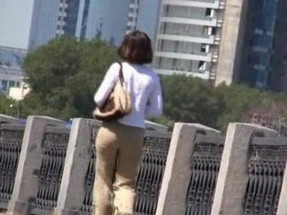 Panties wetting onto an Embankment