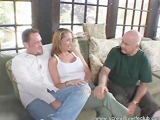 Wife Enjoys A Gang Bang