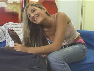 Teen Blonde White Girl With Black Guy - Interracial...