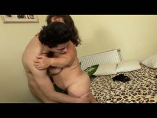 Mature Midget Fucks This Young Hot Stud With Her Small Pussy