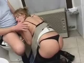 Mature Mom Son Sex in Toilet