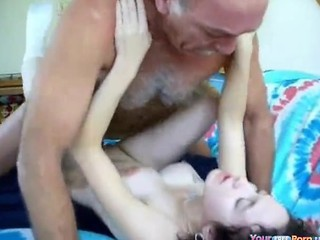 Grandpa Creampies A Whore
