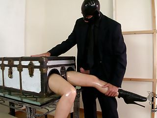 This Fetish Video Is All About Long Legged Lady In A Box Latex Lucy Ge...