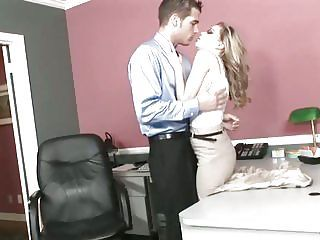 Nicole Ray Rides Her Boss's Hard Cock In The Office