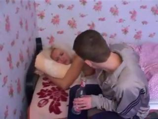 Mother Fucked By Drunk Son And His Friends
