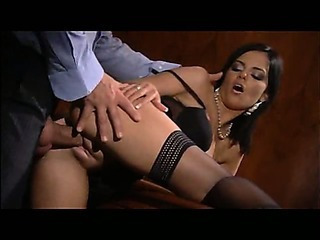 Black Angelica Office Anal