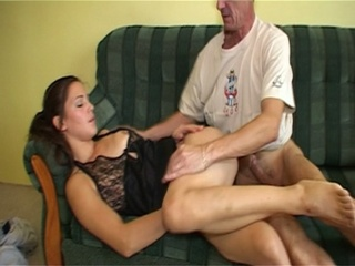 Horny Older Dude Fucking A Hot Brunette