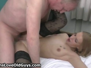 Grey Old Man Loves To Fuck A Tight