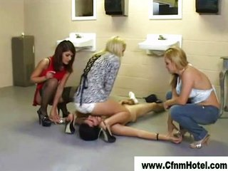 Femdom Cfnm Girls In The Toilet