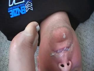 Eating from wifes feet