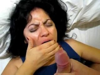 She Swallows For The First Time