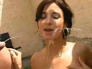 Brunette Cute Outdoor Pissing Teen