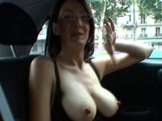 Amateur Big Tits Brunette Car French Glasses Mature