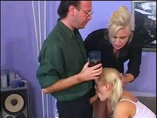 Amateur Blonde Blowjob Drunk Family Threesome