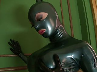 Well Stacked Latex Lucy Poses In...