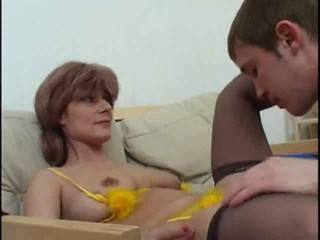 Amateur Licking Mature Redhead Small Tits Stockings