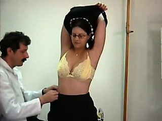 Brunette Doctor Lingerie Natural Spanking Young