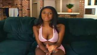 Ebony Cutie Bambi Bliss Tries Wh...