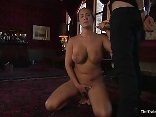 Stupid Slut Is Forced To Give Ha...
