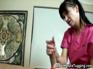 Mature Masseuse Jerks A Boys Coc...