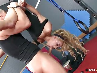Sexy Blonde Haired Gymnast Loulo...
