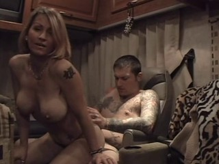 Blonde MILF Big Tits Tattoo Riding Amateur