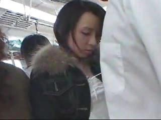 Japanese Girl Giving Hj On Crowded Train