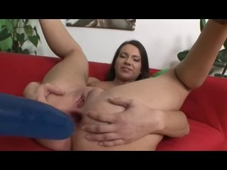 beautiful girl plays with her ass