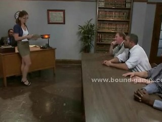 Young College Teacher Dominated In Rough Bdsm Gang Bang In Awesom
