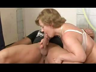 German Grandma Takes A Younger Cock In Her Mouth And Pussy