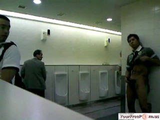 Japanese guy masturbating in the bathroom