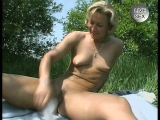 Sexy Blonde In The Field