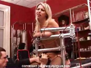 Busty blonde in some really painful BDSM as she gets tortured