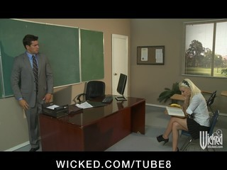 Young Sexy Blonde Teen Fucks Her Teacher's Dick In School Uniform