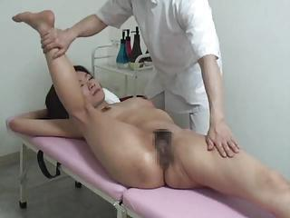 Japanese Girl Is Massaged In The Defoliate