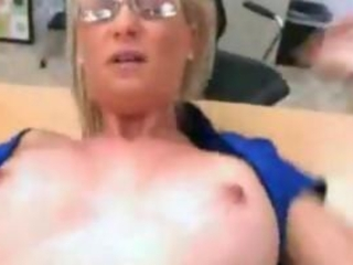 Amazing Glasses MILF Office
