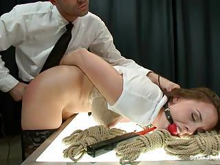 Slapper Chanel Preston Gets Tied Up & Gagged For Fun
