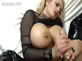 Blonde Babe More Huge Tits Sucks Not susceptible A Cock With an increment of Then Fucks It