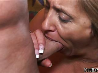 Horny Granny Shows Go off at a tangent She Can Still Handle Huge Cock