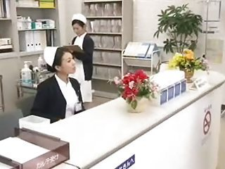 Dutiful Japanese Nurse Services Patient In Public Ho...