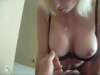 Sex-frenzied Mom Giving A Handjob In A Very Passionate Way