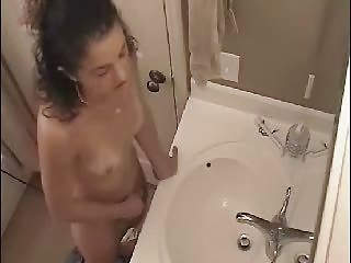 Great Video. Hidden Cam Caught My Sister In Bathroom