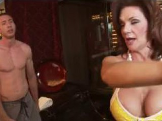 Big Titted Mammy Punishes Her Tainted Lassie And T...