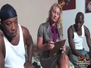 blonde mature does anal with blacks