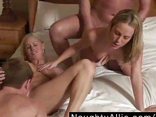 SKI LODGE ORGY – AMATEUR SWINGER GROUP SEX