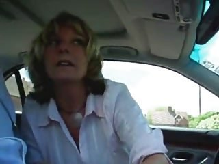 Amateur Blonde Car  MILF