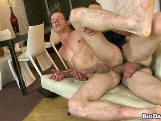 Horny gay dude rides big hard...